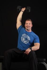 Sculpt Fitness Personal Trainer Chad Maleski shoulder pressing