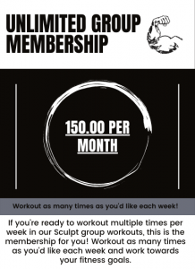 unlimited group membership for sculpt fitness in akron